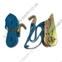 lashing strap ratchet and hook 4 m / 400 daN
