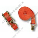 lashing strap ratchet and hook 4 m / 1000 daN
