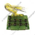 electronic card, 9 push buttons