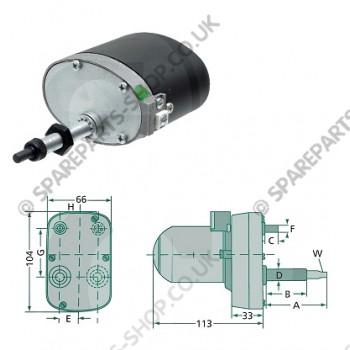 wiper motor 120gr 65-45mm