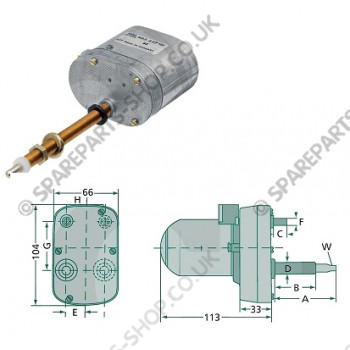 wiper motor 120gr 105-95mm