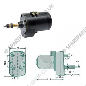 wiper motor 135gr 60-45mm